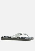 Havaianas - Top camu - grey & white