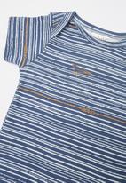 UP Baby - Soft jersey bodysuit - blue & white