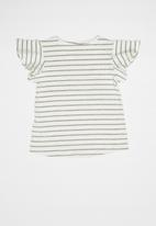 Quimby - Yarn dyed elastane jersey top - grey