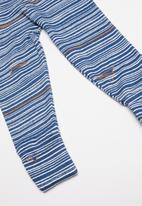 UP Baby - Soft jersey pants - blue & white