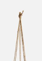 Urchin Art - Dip hanging succulent planter - blue & white
