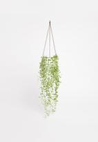 Urchin Art - Alice hanging planter - white