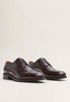 MANGO - Jake leather brogue - burgundy