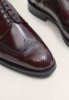 MANGO - Jake leather brogue - burgundy