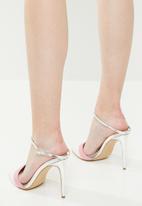 Miss Black - Rex heel - white & pink
