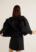 MANGO - Denim jacket - black