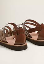 MANGO - Ibiza leather sandals - brown