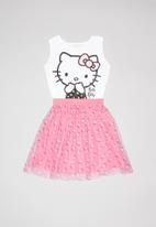 Hello Kitty - Single jersey dress with sublimated tulle - multi