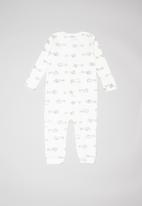 UP Baby - Soft jersey romper - off white