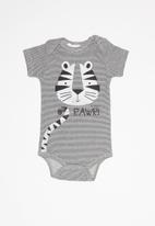 UP Baby - Soft jersey short sleeve bodysuit, pants and bib - grey