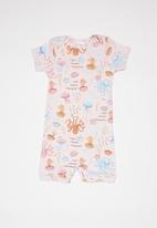 UP Baby - Soft jersey  romper - light pink