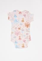UP Baby - Soft jersey bodysuit - pink