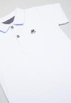 UP Baby - Soft jersey cotton polo - white