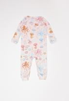 UP Baby - Soft jersey romper - pink