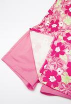 Bee Loop - Single jersey floral romper - pink