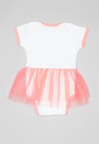 Hello Kitty - Soft jersey cotton bodysuit w/tulle - white & pink