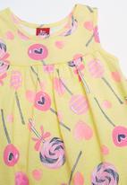 Bee Loop - Single jersey dress - yellow