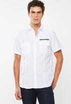 STYLE REPUBLIC - Frantz zip detail shirt - white
