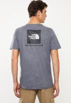 The North Face - Redbox logo short sleeve tee - grey & black