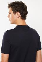 New Look - Button through revere polo - navy