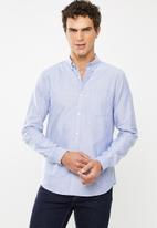 New Look - New oxford long sleeve shirt - blue