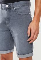 New Look - Denim shorts - grey