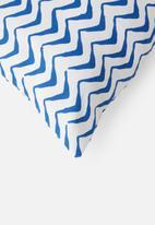 Sixth Floor - Decio cushion cover - baleine blue