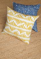 Sixth Floor - Arya cushion cover - spicey mustard