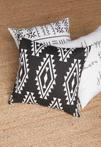 Sixth Floor - Rye cushion cover - black