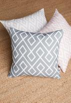 Sixth Floor - Gem cushion cover - light grey