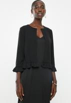New Look - Frill sleeve jacket - black
