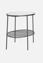 Sixth Floor - Valor oval side table - black