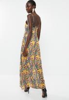 dailyfriday - Strappy deep v-neck maxi dress - multi