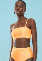 Superbalist - Cropped bikini top - orange
