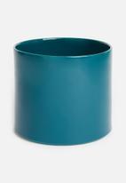 Urchin Art - Cora planter - glazed teal