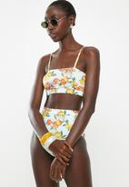 Superbalist - Cropped bikini top - multi