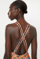 Superbalist - High neck one piece - orange