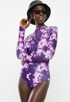 Superbalist - Rash vest one piece - purple