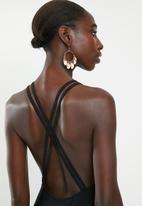 Superbalist - High neck one piece - black