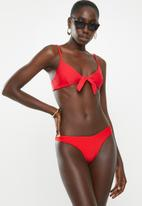 Sissy Boy - Front tie bikini crop top - red