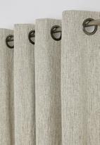 Sheraton - Manhattan eyelet curtain - stone melange