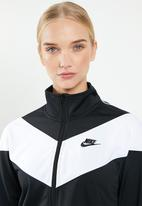 Nike - Nsw hrtg tracksuit top - black & white