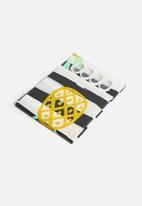 Bathroom Solutions - Pineapple shower curtain - yellow & black