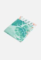 Bathroom Solutions - Flamingo shower curtain - pink & blue