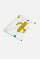 Bathroom Solutions - Cactus shower curtain - gold & white