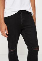 Factorie - Skinny leg denim jean - black