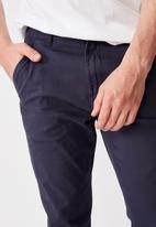 Factorie - Washed slim leg pant - navy