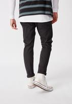 Factorie - Washed slim leg pant - black