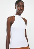 Superbalist - Rib funnel neck vest - white