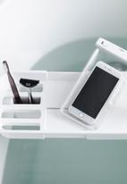 Yamazaki - Tower extendable bathrub tray - white